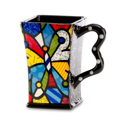 Britto™ by Giftcraft Butterfly 14-Ounce Square Mug