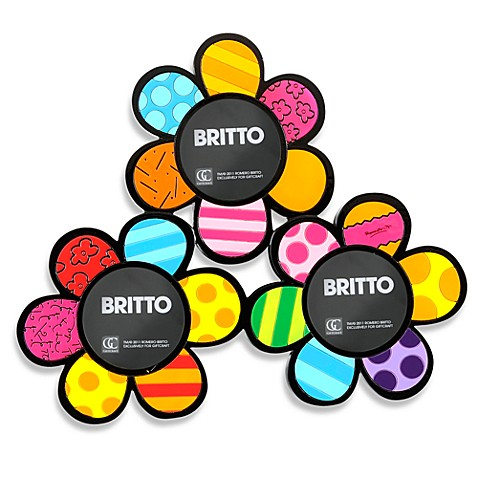 Britto™ by Giftcraft Flowers Three 3-Inch Diameter Picture Frame