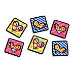Britto™ by Giftcraft Heart 4-Inch Cork Coasters (Set of 6)