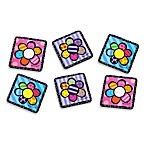 Britto™ by Giftcraft Flowers 4-Inch Cork Coasters (Set of 6)