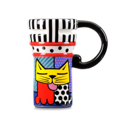 Britto™ by Giftcraft Cat Design 14-Ounce Travel Mug