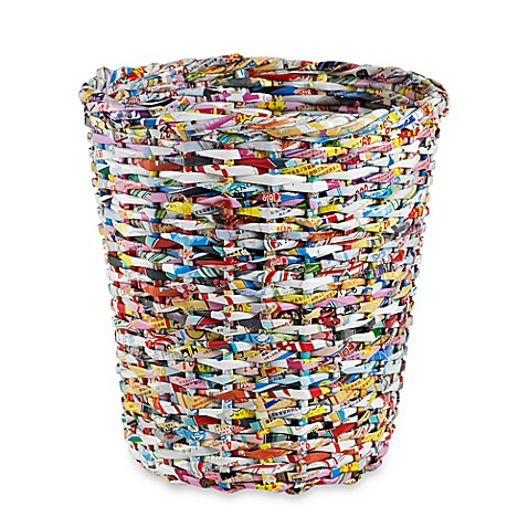 Adele wastebasket bed bath beyond - Cool wastebaskets ...