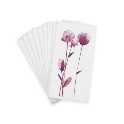 Simply Fine Lenox® Watercolor Amethyst Guest Towels (Set of 16)
