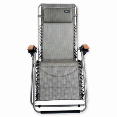 Travel Chair Lounge Lizard Zero Gravity Recliner in Black/White