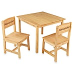 KidKraft® Personalized Boy's Aspen Table & Chair Set in Natural with Brown Lettering
