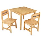 KidKraft® Personalized Boy's Aspen Table & Chair Set in Natural with Blue Lettering