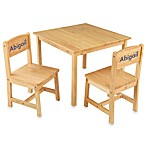 KidKraft® Personalized Girl's Aspen Table & Chair Set in Natural with Blue Lettering