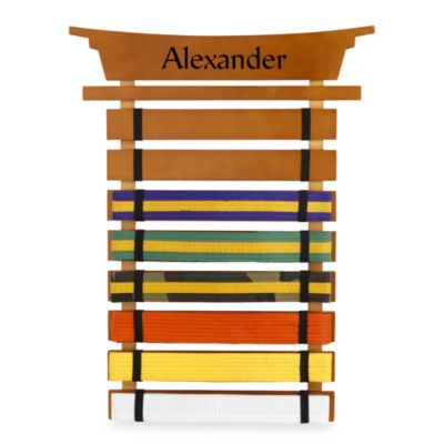 "KidKraft® Personalized ""James"" Boy's Marital Arts Belt Holder"
