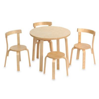 Svan® Play with Me Toddler Table & Chairs in Natural