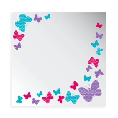 Studio Art Tree Collection 12-Inch x 12-Inch Butterfly Printed Mirror