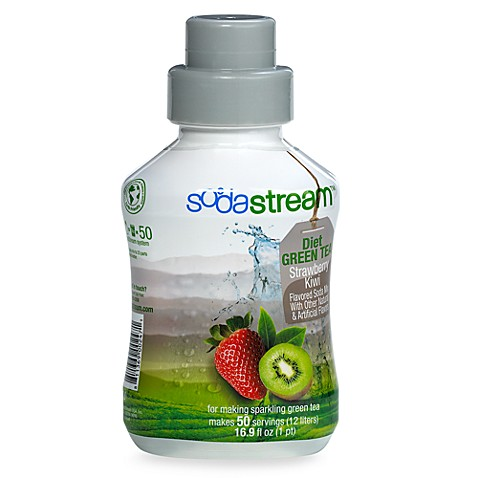 SodaStream Diet Green Tea Strawberry Kiwi Sparkling Drink Mix