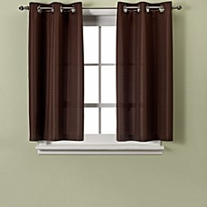 Hookless® Waffle 45-Inch Window Curtain in Chocolate