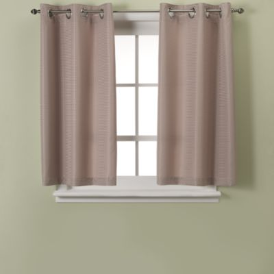 Hookless® Waffle Taupe Window Curtain Panel Pair