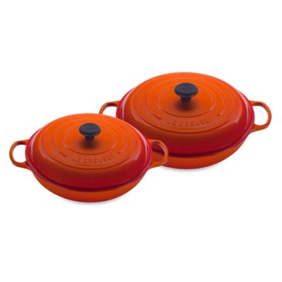 Le Creuset® 3 1/2-Quart Enameled Cast Iron Braiser in Flame