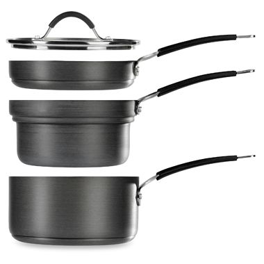 Stax Living® 4-Piece Hard Anodized 2.5-Quart Saucepan Set by Tabletops Unlimited®