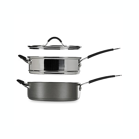 Stax Living® 3-Piece Hard Anodized 5-Quart Saute Pan Set by Tabletops Unlimited®