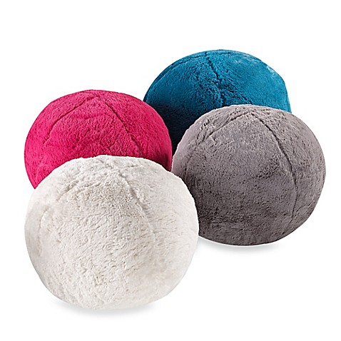 Plush Ball Decorative Toss Pillows