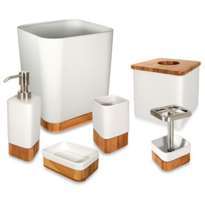Buy bamboo bath accessories from bed bath beyond for Bathroom decor bed bath and beyond