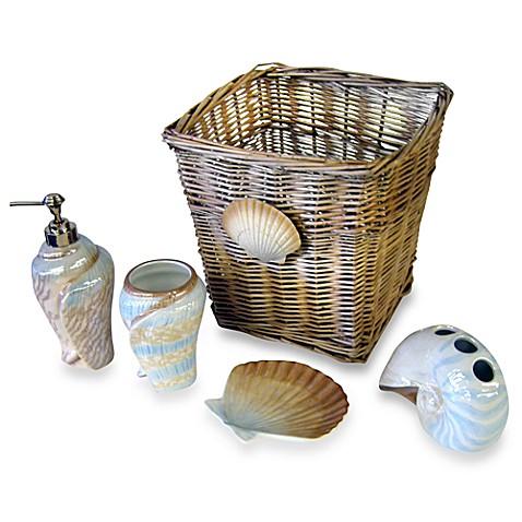 Buy seashell bathroom decor from bed bath beyond for Seashell bathroom set
