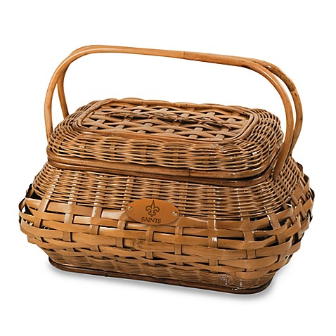Picnic Time® Highlander Picnic Basket in New Orleans Saints