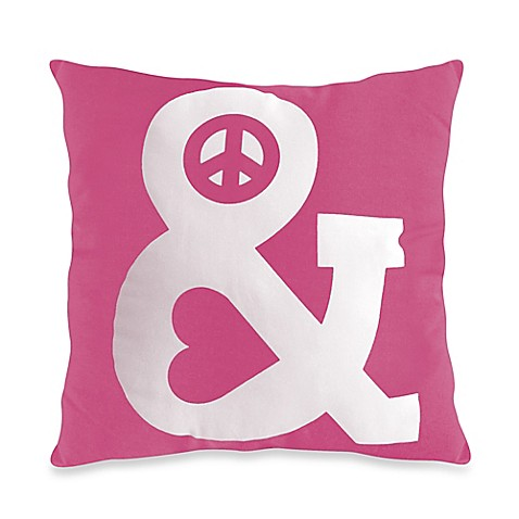 Threadless Peace & Love Toss Pillow