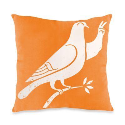 Threadless Orange Peace Toss Pillow