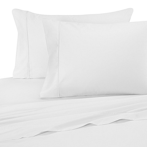 Wrinkle-Free Cotton Standard Pillowcases in White (Set of 2)