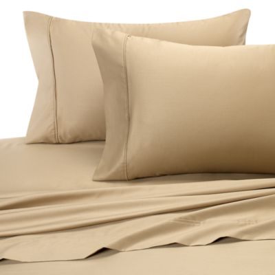 Wrinkle-Free Cotton Queen Sheet Set in Taupe