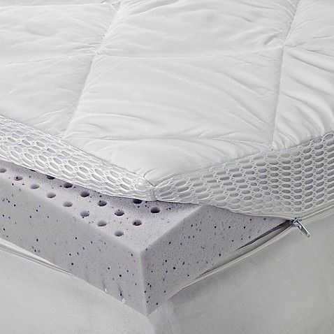 Sheex 174 Theragel Memory Foam Mattress Topper Bed Bath