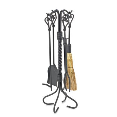 UniFlame® F-1133 5-Piece Black Heart Twist Fire Set