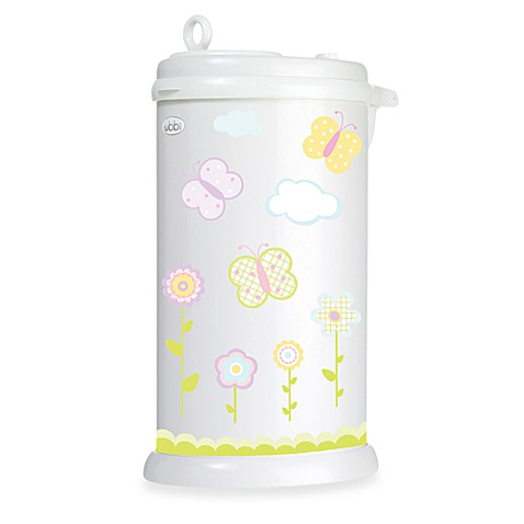 Ubbi® Diaper Pail Butterfly Decal in Yellow