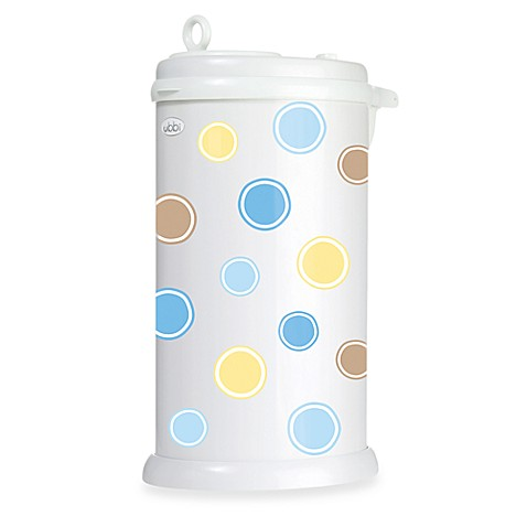Ubbi® Diaper Pail Bubbles Decal in Blue