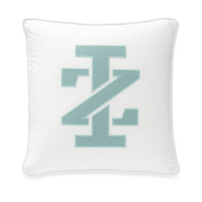 IZOD Basketweave Square Logo Toss Pillow