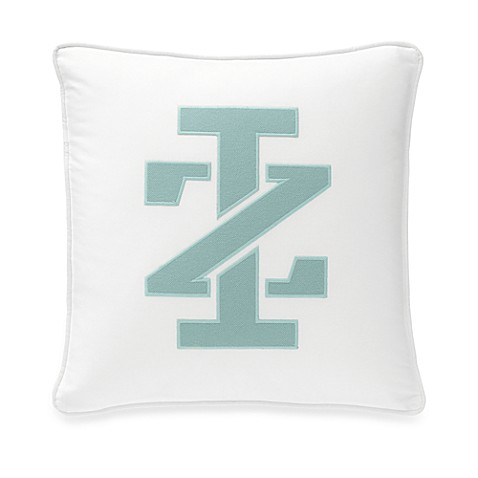 IZOD Basketweave Square Logo Throw Pillow