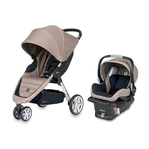 britax b agile travel system in sandstone bed bath beyond. Black Bedroom Furniture Sets. Home Design Ideas