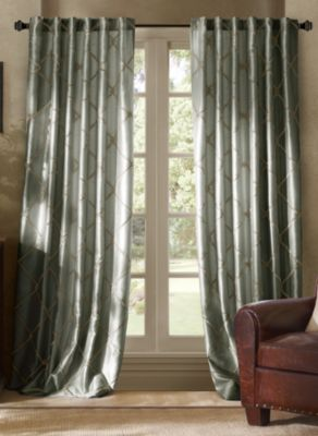 Bombay™ Garrison 95-Inch Rod Pocket/Back Tab Window Curtain Panel in Pewter