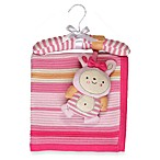 Living Textiles Baby Lulu Bunny Regular Cotton Knitted Blanket & Rattle Toy