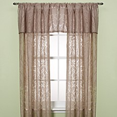Branchbrook Taupe Rod Pocket Window Curtain Panels