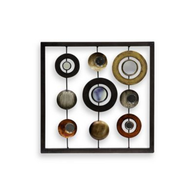 Metal Circle and Square 12-Inch x 12-Inch Wall Art
