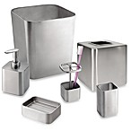 Gia Brushed Stainless Steel Bath Ensemble