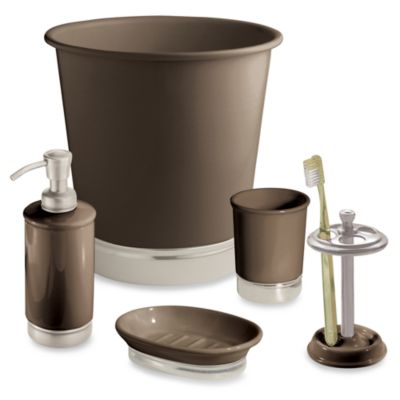 InterDesign® York Waste Basket in Matte Brown