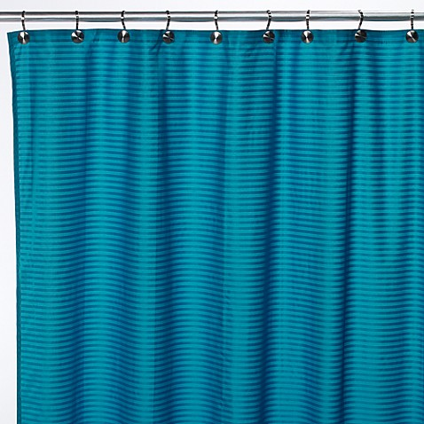 Aqua Tec Fabric Shower Curtain Liner Peacock Blue Bed Bath Beyond
