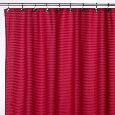 Aqua Tec Fabric Shower Curtain Liner in Fuschia