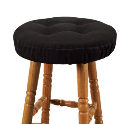 Klear Vu Embrace Barstool Cover in Black