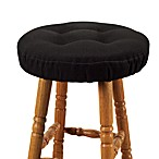 Embrace Bar Stool Cover in Black