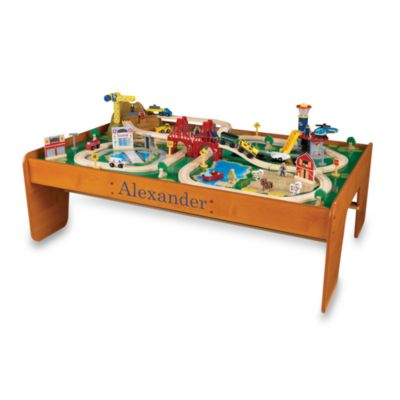 "KidKraft® Personalized ""David"" Ride Around Town Train Set with Table"