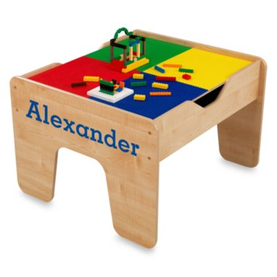 "KidKraft® Personalized ""Nicholas"" 2-in-1 Activity Table with Blue Lettering"