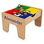 KidKraft® Personalized 2-in-1 Activity Table in Natural with Blue Lettering