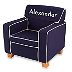 KidKraft® Personalized Boy's Laguna Chair with Slip Cover in Navy with White Lettering