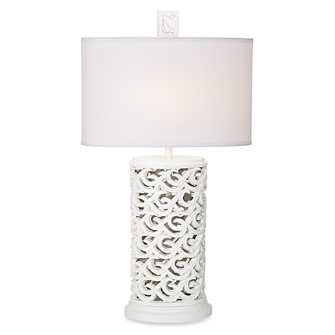 Kathy Ireland Home Waikoloa Beach Table Lamp in White